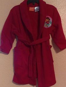 Nickelodeon Dora the Explorer red fleece robe